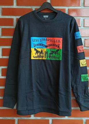 Levi's оригинал синяя кофта свитшот свитер худи размер м