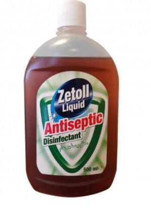Дезинфицирующее средство-антисептик zetoll, зетол юнайс 500 мл