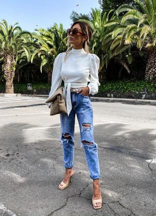 Трендовая белая блузка, 42-44,44-46