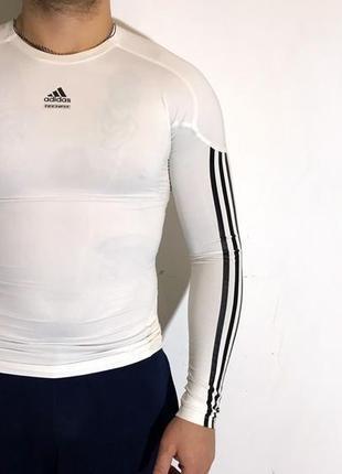 Мужская термо-кофта (рашгард) adidas techfit clima365 ( адидас мрр )
