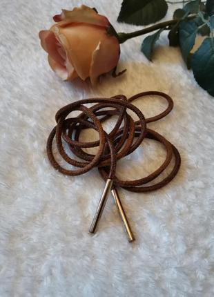 Кожаный пояс шнурок верёвка