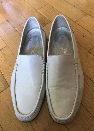 Мужские кожаные туфли модного бренда jonnston&murphy, made in italy