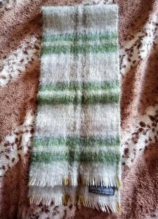 Шотландский бренд шарф шерсть с мохером lochcarron (оригинал) унисекс