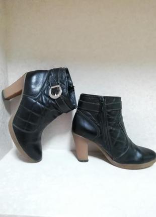 Кожаные полуботинки dixi, ботинки, ботильены стеганные