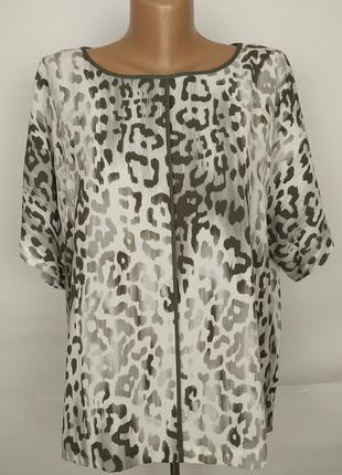 Блуза легкая красивая в принт marks&spencer uk 14/42/l