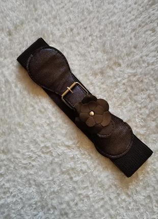 Ремень пояс корсет коричневый