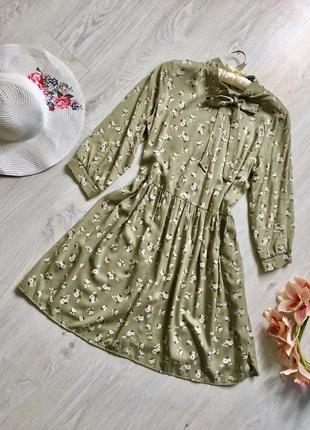 Цветочное  свободное платье