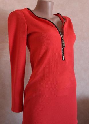Платье по фигуре, неопрен с молнией, размер s-m