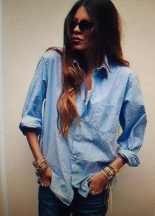 Катоновая рубашка серо-голубая
