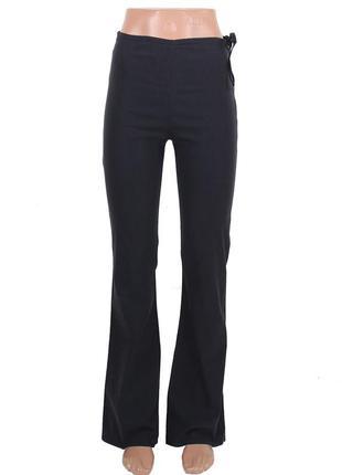 Черные стрейчевые брюки