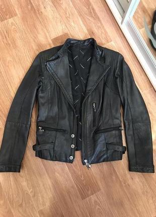 Кожаная итальянская куртка /курточка