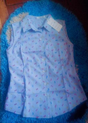 Блузка  , без рукавов