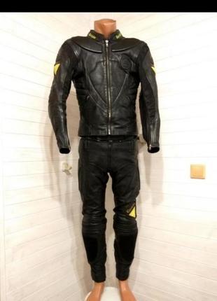 Мужской кожаный мотокостюм gericke prosport размер m-l 46-48