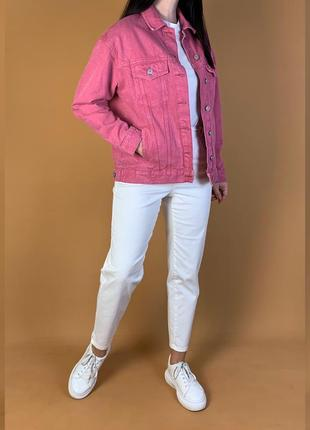 Куртка джинсовая оверсайз джинсовка bershka