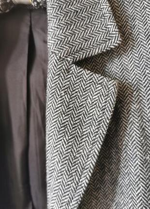Твидовый пиджак, харрис твид, винтаж, в елочку