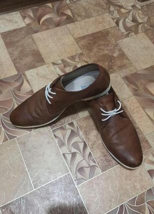 Кожаные туфли pier one 45р