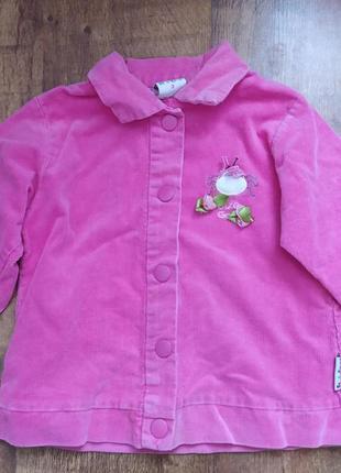 Детский розовый пиджак для девочек