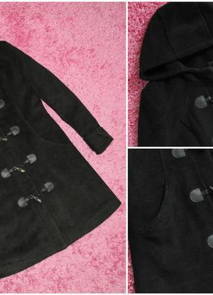 Пальто с капюшоном new look