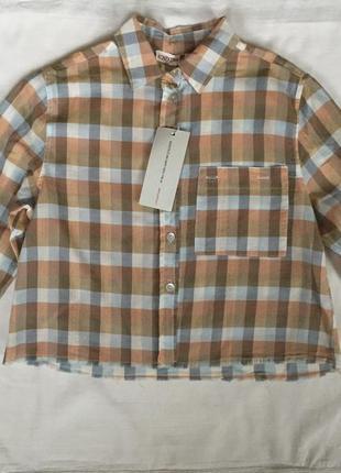 Короткая рубашка в клетку