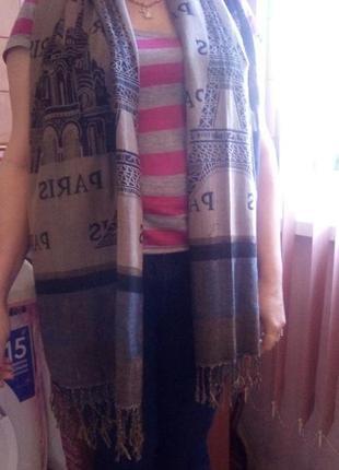 Палантин шарф двухсторонний вискоза унисекс2 фото