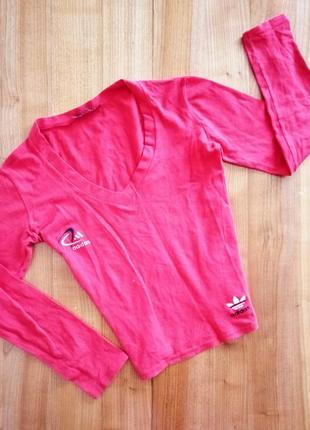 Кофта спортивна із значком adidas alfa bella/ джемпер/ укороченная/ футболка