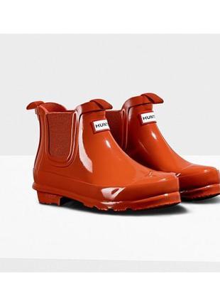 Ботиночки резиновые hunter ( хантер) новые,яркие ,стильные!