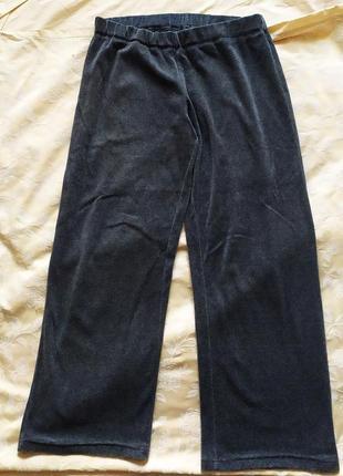 Женские велюровые штаны большого размера