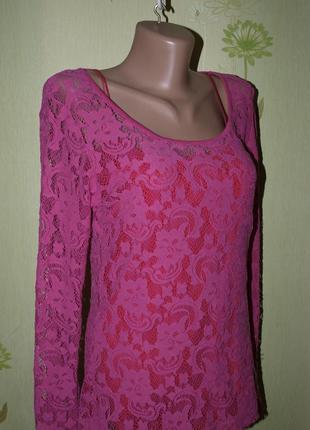 Кружевная прелесть - ,кофта , блуза-s-m- l- vila clothes