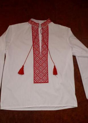 Красивая вышиванка рубашкка сорочка вишиванка,для мальчика 12-14 лет