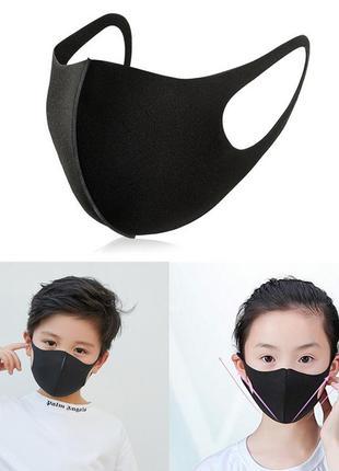 Защитная маска для лица детская питта черная (1 шт/уп) (3006)