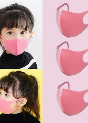 Детская маска питта для лица розовая pitta mask (3 шт/уп)