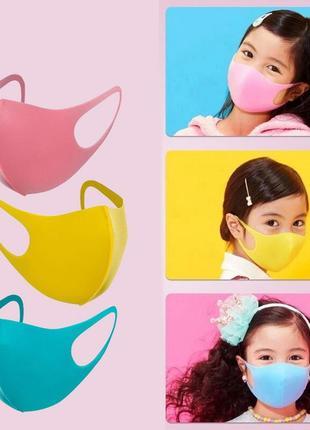 Детская маска для лица трехслойная pitta mask (3 шт/уп)