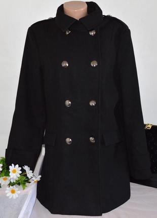 Брендовое черное демисезонное пальто с карманами george вьетнам