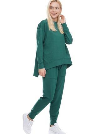 Женский спортивный костюм реглан и брюки зеленый морская волна, s-xxl