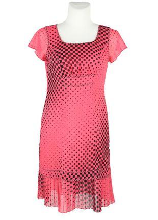 Розовое платье в горошек katia ricciarelli