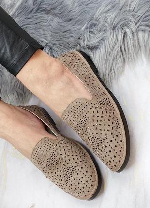 Туфли с перфорацией мокко