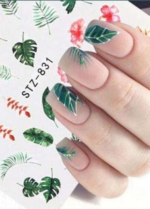 Наклейки для ногтей стикеры ботаника сакура