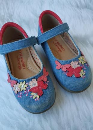Джинсовые туфельки-мокасины