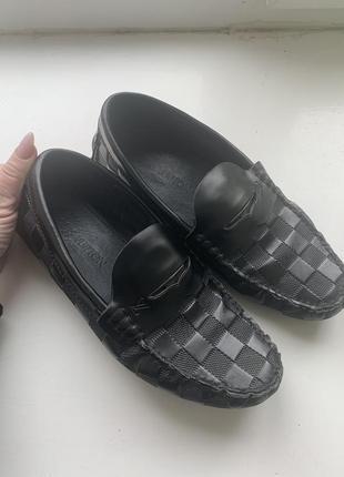 Мокасины туфли унисекс кожа louis vuitton 25,5