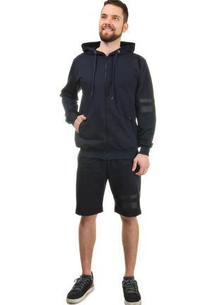 Мужской спортивный костюм тройка tailer из трикотажа демисезонный куртка +шорты (2028)