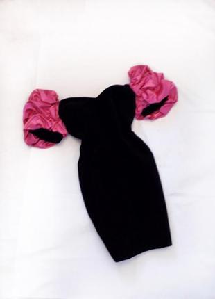 Шикарное нарядное платье с рукавами буфы, огромные рукава