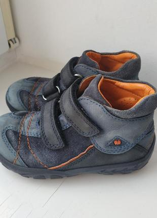 Кожаные демисезонные ботинки туфли elefanten 22р. 14.5 см.