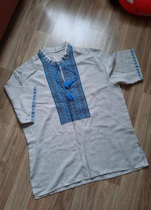 Вишита льонова сорочка