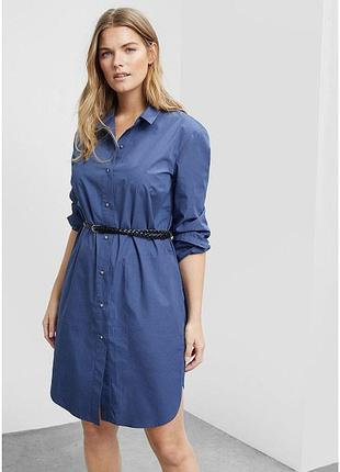 Платье рубашка туника с поясом