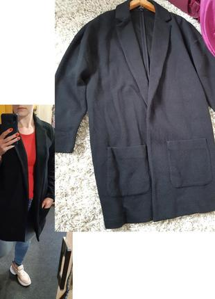 Актуальный черный удлинённый каодиган с карманами, avant premiere, p. s-m