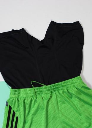 Топовые шорты с вшитыми лосинами от adidas marathon 104 фото