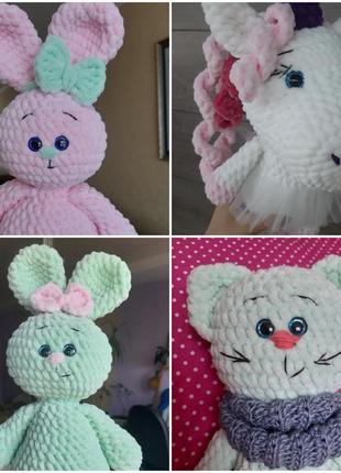 Іграшки амігурумі ручної роботи / игрушки для девочек амигуруми