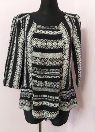 Комбінована блуза,етно стиль/monsoon/l