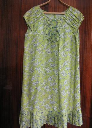 Платье трапеция на любую фигуру с элементами плиссировки, для беременных