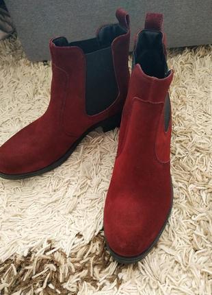 Кожаные ботинки челси3 фото